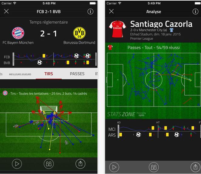 Capture d'écran FourFourTwo Football Stats Zone iOS