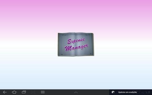 Capture d'écran Expense Manager