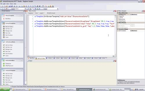 Capture d'écran InstantEnterprise.NET