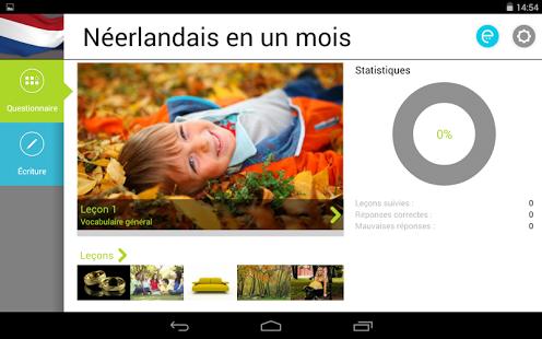 Capture d'écran Néerlandais en un mois