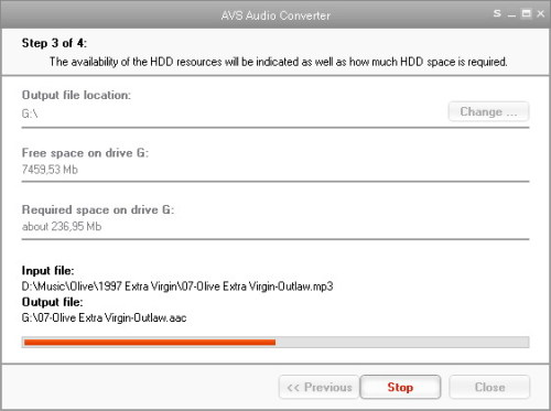 Capture d'écran AVS Audio Converter