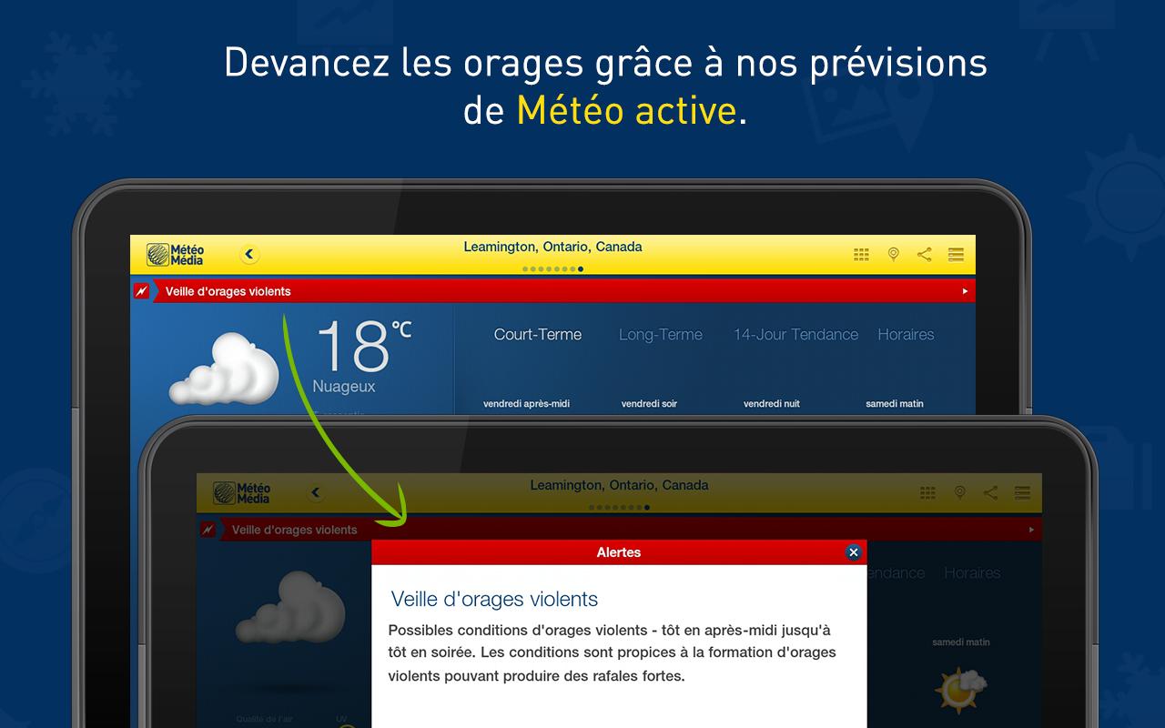 Capture d'écran MétéoMédia Android