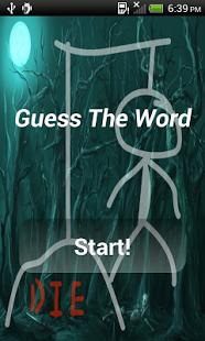 Capture d'écran Guess The Word