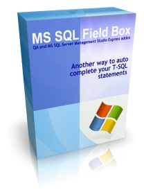 Capture d'écran MS SQL Field Box