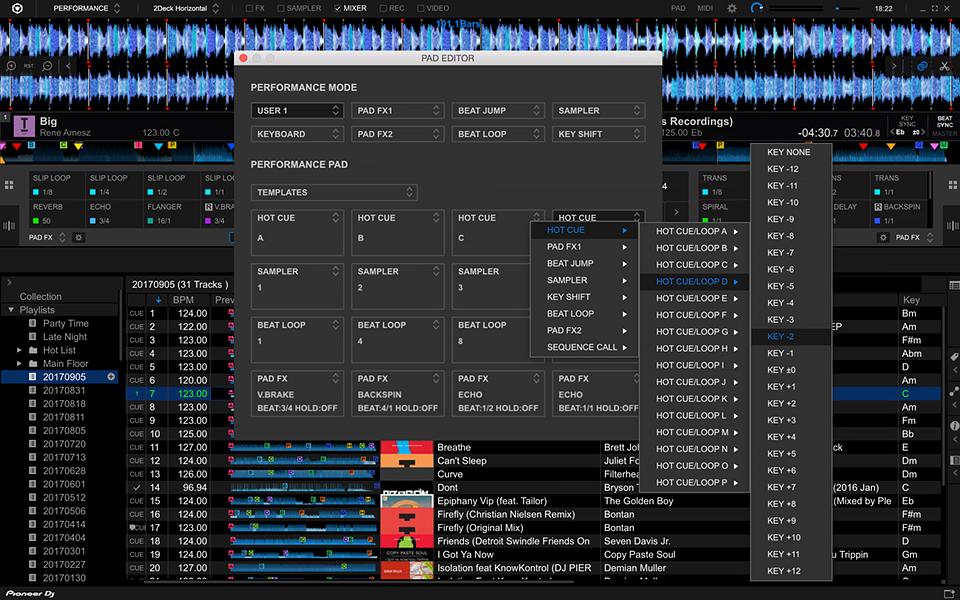 Capture d'écran Rekordbox