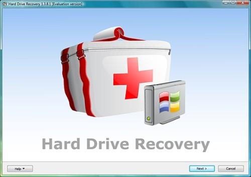 Capture d'écran Hard Drive Recovery