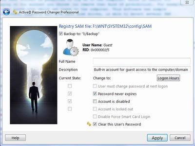 Capture d'écran Active@ Password Changer