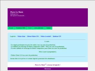 Capture d'écran Pierre Le Muzic :: Modeleur CSV