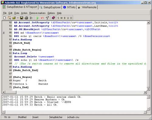 Capture d'écran AdmWin