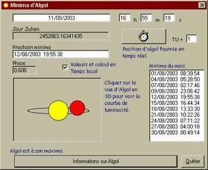 Capture d'écran Algol.exe