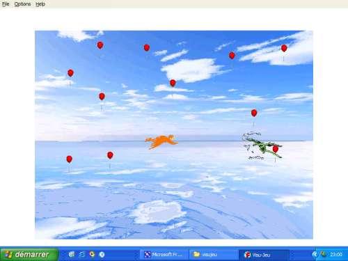 Capture d'écran A la poursuite des ballons rouges