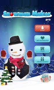 Capture d'écran Snowman Maker