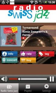 Capture d'écran Radio Swiss Jazz