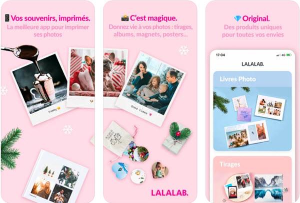 Capture d'écran LALALAB iOS