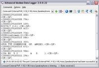 Capture d'écran Advanced Modem Data Logger