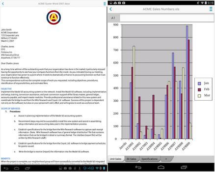 Capture d'écran Docs To Go Android