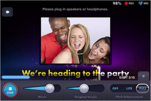 Capture d'écran Soulo Karaoke iOS