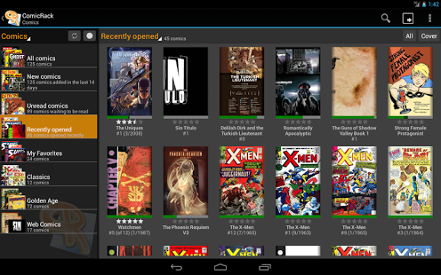 Capture d'écran ComicRack