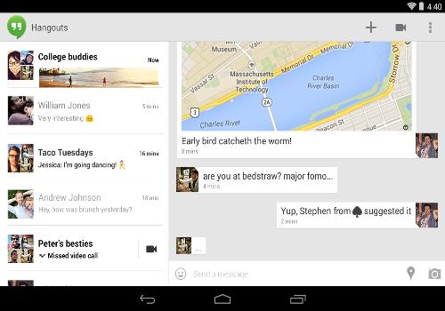 Capture d'écran Hangouts