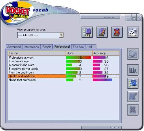 Capture d'écran RocketReader Vocab American Edition