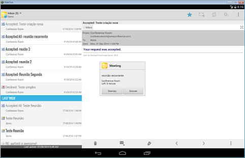 Capture d'écran Mobile Access for Outlook OWA
