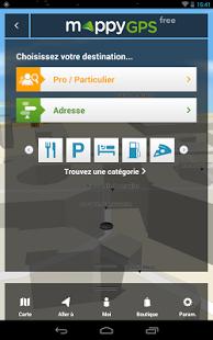 Capture d'écran Mappy GPS Free