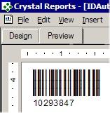 Capture d'écran Barcode Generator for Crystal Reports