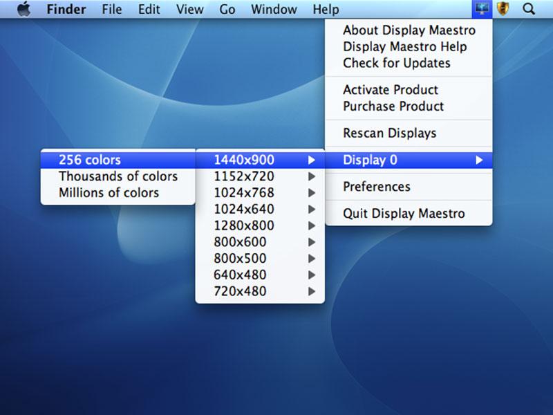Capture d'écran Display Maestro