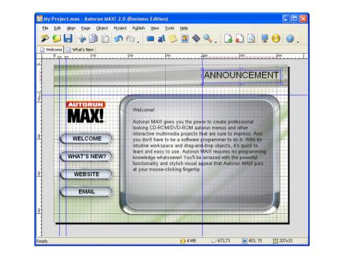 Capture d'écran Autorun MAX