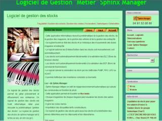 Capture d'écran Sphinx Manager – Stocks