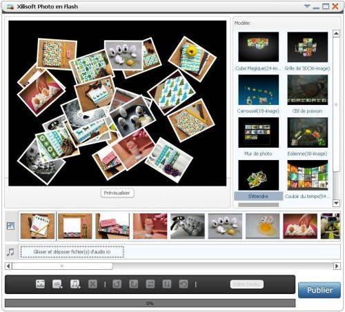 Capture d'écran Xilisoft Photo en Flash