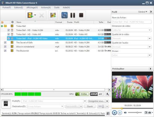 Capture d'écran Xilisoft HD Vidéo Convertisseur 6
