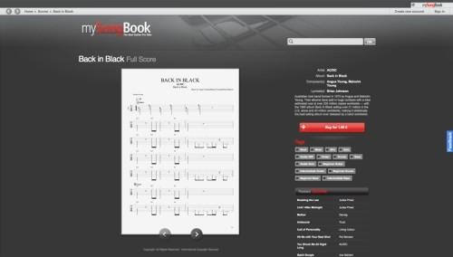 Capture d'écran mySongBook Player