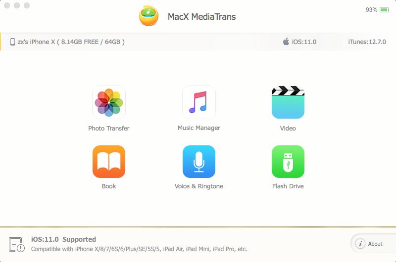 Capture d'écran MacX MediaTrans