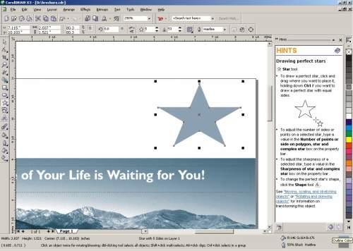Capture d'écran CorelDRAW Graphics Suite X4