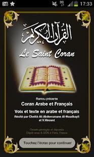 Capture d'écran Coran Français Audio Lite