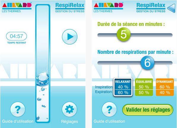 Capture d'écran RespiRelax iOS