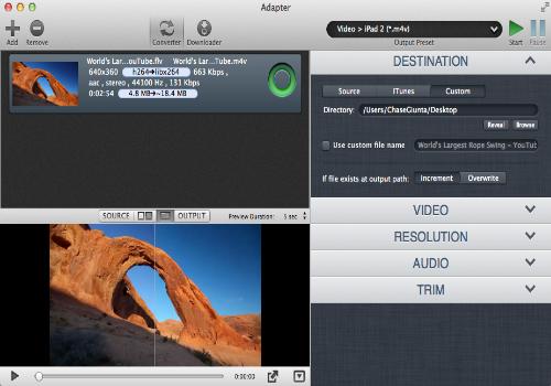 Capture d'écran Adapter