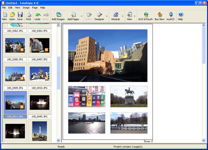 Capture d'écran FotoSlate