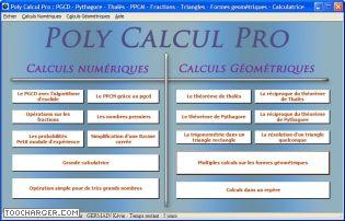 Capture d'écran Poly Calcul Pro