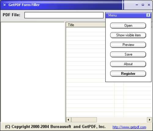 Capture d'écran GetPDF Form Filler