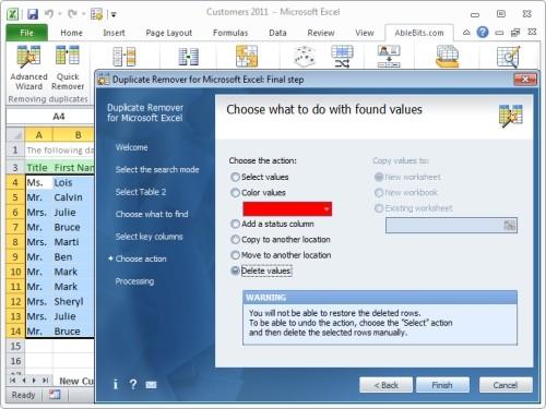 Capture d'écran Duplicate Remover for Microsoft Excel