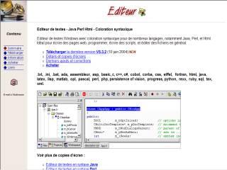 Capture d'écran Editeur