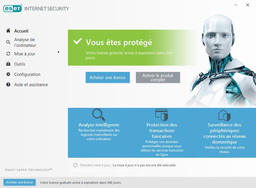 Capture d'écran ESET Internet Security