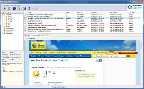 Capture d'écran Right Web Monitor