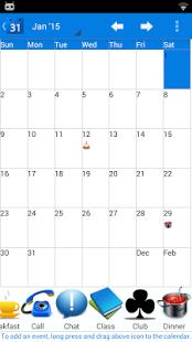 Capture d'écran Calendar 2015