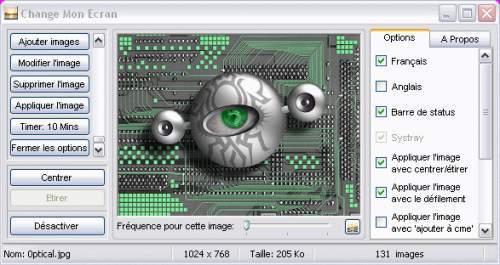 Capture d'écran Change Mon Ecran