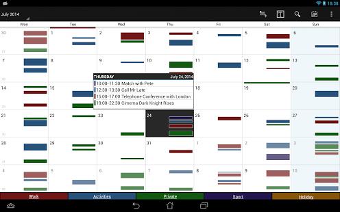 Capture d'écran Business Calendar Pro