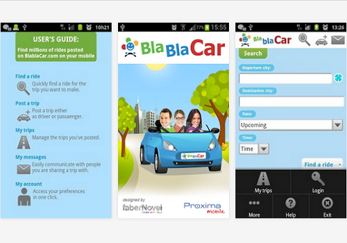 Capture d'écran BlaBlaCar iOS