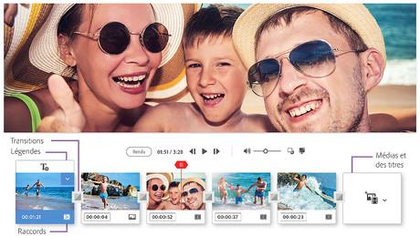 Capture d'écran Adobe Premiere Elements 2020